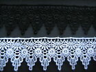 Black / White  Victorian Style Venise / Guipure Lace  Sewing/Costume/Corsetry