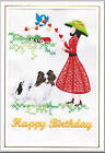 Papillon Birthday Card Embroidered by Dogmania  - FREE PERSONALISATION