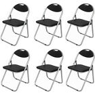 Soft Padded Folding Chair Steel Foldable Chair Faux Leather Folding Office Chair