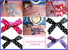 20 POLKA DOT RIBBON BOWS - CHOICE OF COLOURS - BRIDAL, INVITATIONS, BABY, CARDS