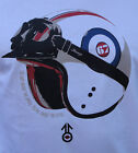 HELMET & GOGGLES T SHIRT BY STOMP SCOOTER MOD NORTHERN SOUL RETRO SKINHEAD SKA