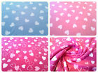 "Anti-Pil Polar Fleece Fabric - Heart Pattern -59"" (150cm) wide - per metre/half"