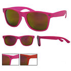 New Bright Colour Frame Wayfarer Sunglasses With Orange Spectrum Tint Lens BNWT