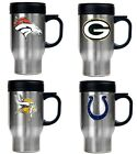 CHOOSE TEAM Travel Mug Stainless Steel New NFL Hot or Cold Drink Ships Priority