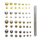 Round Rivet Metal Spike Stud Leathercraft DIY Fashion Punk Rock With Press Tool
