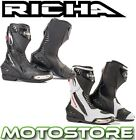 RICHA DRIFT SPORTS BOOTS MOTORCYCLE MOTORBIKE TRACK PRO RACING TOURING NEW