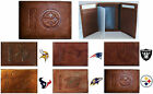 CHOOSE TEAM Wallet Trifold Highest Quality New All Leather NFL Tri-fold Marbled