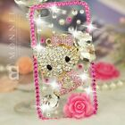 S18 Luxury Bling Crystal Hello Kitty Case Cover fo iPhone 4 / 4S / 5