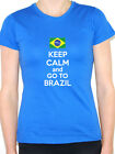 KEEP CALM AND GO TO BRAZIL - Brazilian / America / Fun Themed Womens T-Shirt