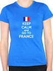 KEEP CALM AND GO TO FRANCE - French / Europe / Novelty Themed Womens T-Shirt