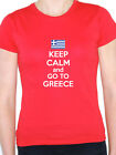 KEEP CALM AND GO TO GREECE - Greek / Europe / Novelty Themed Womens T-Shirt