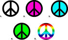 Nail Decals Art Set of 20 - Peace Sign
