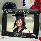 Personalized Graduation Picture Frame Black & Silver  Graduation Photo Frame