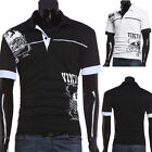Men's Cool Slim Fit Short Sleeve Comfy T-shirt POLO Shirt Tops Tee Casual Style