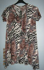 NEW PLUS LADIES LOVELY BROWN MULTI PRINT TOP.***SIZES 16*18*20*22/24***