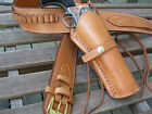 Cartridge Gun Belt Combo - .38 Cal Smooth H - Leather - Natural - Specify Size