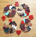 LEATHER DIE-CUT MIXED SHAPES BEAR FLOWER HEART CUPCAKE ASSORTED COLOUR FOR CRAFT