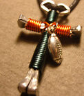 Disciples Cross larger sized  football swivel key chains