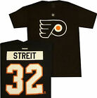 Philadelphia Flyers Mark Streit Name and Number Black T Shirt