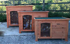 Dog Kennel Wooden Pet House Puppy New Outdoor House 3 sizes Wood Easipet