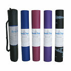 Yoga Mat Beginners Exercise Pilates Non Slip Assorted Karma Gym With Carry Case