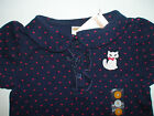 NWT GYMBOREE HOMECOMING KITTY NAVY RED POLKA DOT POLO TOP SHIRT BACK TO SCHOOL