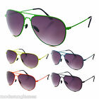 AVIATOR NEON Color COOL Top Gun Pilot Full Style Mirror Sunglasses UV (6 Styles)