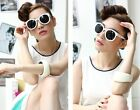 Fashion Vintage Retro Unisex Arrow Oversize Round Big Sun Glass DGA64