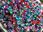 Aluminium Tube Beads 4x6 mm Mixed Joblot DIY Project Red/Green/Blue/Pink/Purple
