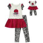 """Dollie & Me 4 5 6 6X gril and 18"""" doll matching outfit ft american girl birthday"""