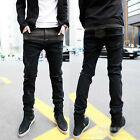 Classic Men Stylish Designed Straight Slim Fit Trousers Casual Jean Pants *41