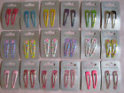2 x Girls' Metal 5cm Hair Clips / Sleepies in Assorted Colours and Designs