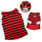 New Klippo Dog Red & Black Striped Collar Shirt w/ Double Sleeves Various Sizes