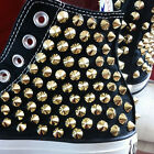 Genuine CONVERSE All-star with gold studs Sneakers Sheos Black
