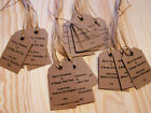 Personalised Christmas Gift Tags Packs 10,25,50-Vintage Luggage Label Kraft