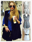 2014 Faux Fur Plush Sweater Slim Long Vest Jackets Coats 7 Color S-XL Gift Q10