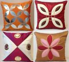 """16"""" 40cm Fabric Scatter Sofa Cushion Covers Faux Leather / Silk Fancy Shimmer"""