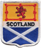More images of Scotland Scottish Saltire and Lion Rampant Flag Embroidered Patch Badge
