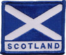 More images of Scotland Scottish Saltire Rectangular Embroidered Patch Badge
