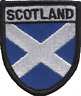 More images of Scotland Scottish Saltire Shield Embroidered Patch Badge