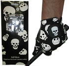 Skeleton Skull All Weather Golf Glove 5 Sizes 4 Gents Small Medium Large XL