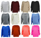 LADIES OVERSIZED BAGGY JUMPER KNITTED WOMENS SWEATER CHUNKY KNIT TOP JUMPER 8-16