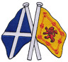 More images of Scotland Saltire and Lion Rampant Friendship Flag Embroidered Patch