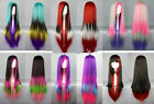 Hot Sell! Long Multi-Color Mixed Straight Cosplay wig 6 Style