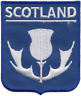 More images of Scotland Scottish White Thistle Flag Embroidered Patch Badge