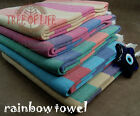 Rainbow Natural Cotton Yoga towel Beach towel Bath towel Shower towel Fouta