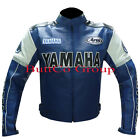 Men YAMAHA 0820 Cowhide Genuine Leather Motorcycle Motorbike Biker Racing Jacket