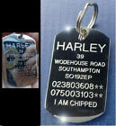 DOG TAG ENGRAVED SMALL MEDIUM LARGE STAINLESS STEEL PET ID IDENTITY & SPLIT RING