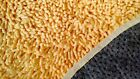 100%Cotton Coral Shag Chenille Yellow Rectangle Room Rug ...