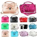 LEATHER STYLE CELEBRITY BOW HEART SHOULDER SATCHEL TOTE CROSS BODY BAG CLUTCH